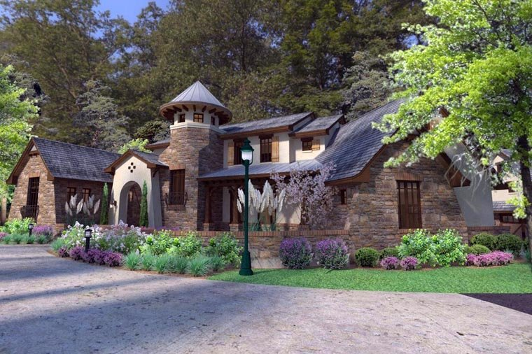 Craftsman, Tuscan House Plan 75132 with 3 Beds, 4 Baths, 2 Car Garage Picture 9