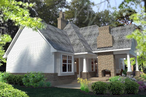 Country, Farmhouse, Southern, Traditional, Victorian House Plan 75133 with 3 Beds, 3 Baths, 3 Car Garage Picture 2