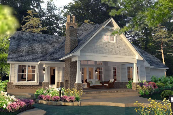 Country, Farmhouse, Southern, Traditional, Victorian House Plan 75133 with 3 Beds, 3 Baths, 3 Car Garage Picture 3
