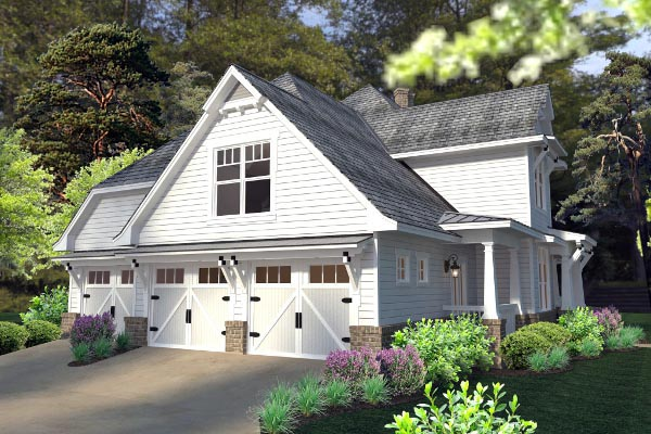 Country, Farmhouse, Southern, Traditional, Victorian House Plan 75133 with 3 Beds, 3 Baths, 3 Car Garage Picture 5