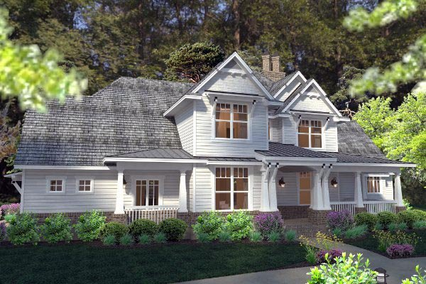Country, Farmhouse, Southern, Traditional, Victorian House Plan 75133 with 3 Beds, 3 Baths, 3 Car Garage Picture 6