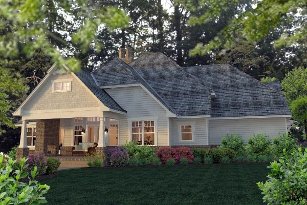Country, Farmhouse, Southern, Traditional, Victorian House Plan 75133 with 3 Beds, 3 Baths, 3 Car Garage Rear Elevation