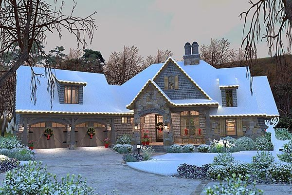 Cottage, Craftsman, Tuscan House Plan 75134 with 4 Beds, 4 Baths, 2 Car Garage Picture 57