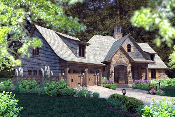 Cottage, Craftsman, Tuscan House Plan 75134 with 4 Beds, 4 Baths, 2 Car Garage Picture 65