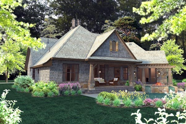 Cottage, Craftsman, Tuscan House Plan 75134 with 4 Beds, 4 Baths, 2 Car Garage Picture 67