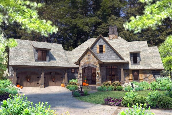 Cottage, Craftsman, Tuscan House Plan 75134 with 4 Beds, 4 Baths, 2 Car Garage Picture 69