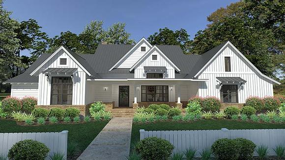 Cottage, Country, Farmhouse, Southern House Plan 75150 with 3 Beds, 3 Baths, 2 Car Garage Elevation