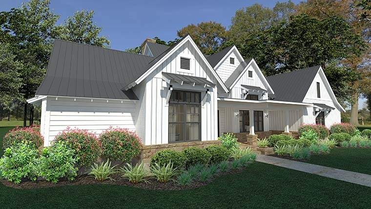 Cottage, Country, Farmhouse, Southern House Plan 75150 with 3 Beds, 3 Baths, 2 Car Garage Picture 7