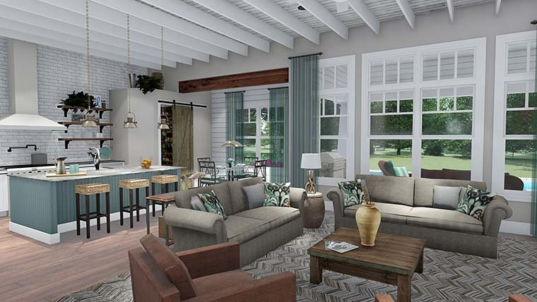 Cottage, Country, Farmhouse, Southern, Traditional House Plan 75152 with 3 Beds, 4 Baths, 2 Car Garage Picture 11