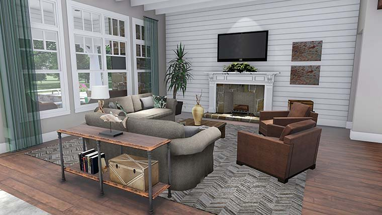 Cottage, Country, Farmhouse, Southern, Traditional House Plan 75152 with 3 Beds, 4 Baths, 2 Car Garage Picture 14
