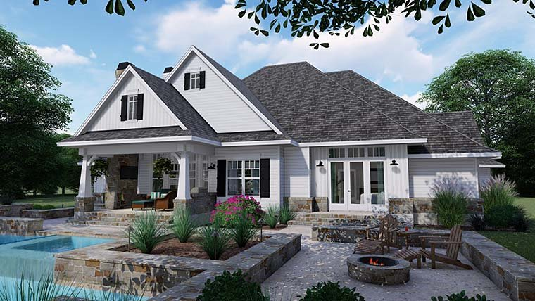 Cottage, Country, Farmhouse, Southern, Traditional House Plan 75152 with 3 Beds, 4 Baths, 2 Car Garage Picture 5
