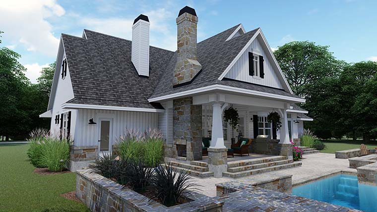 Cottage, Country, Farmhouse, Southern, Traditional House Plan 75152 with 3 Beds, 4 Baths, 2 Car Garage Picture 8