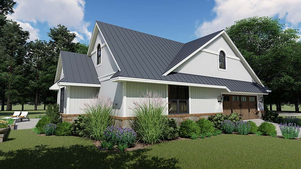 Country, Farmhouse, Southern House Plan 75154 with 3 Beds, 3 Baths, 2 Car Garage Picture 3