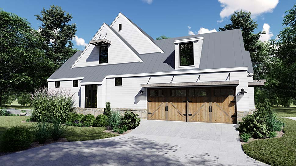 Cottage, Country, Farmhouse, Southern House Plan 75155 with 4 Beds, 4 Baths, 2 Car Garage Picture 2