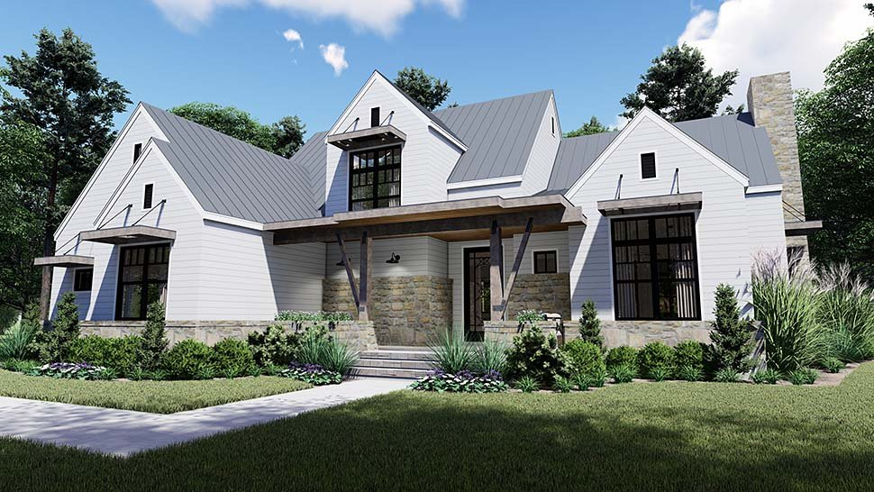 Cottage, Country, Farmhouse, Southern House Plan 75155 with 4 Beds, 4 Baths, 2 Car Garage Picture 3