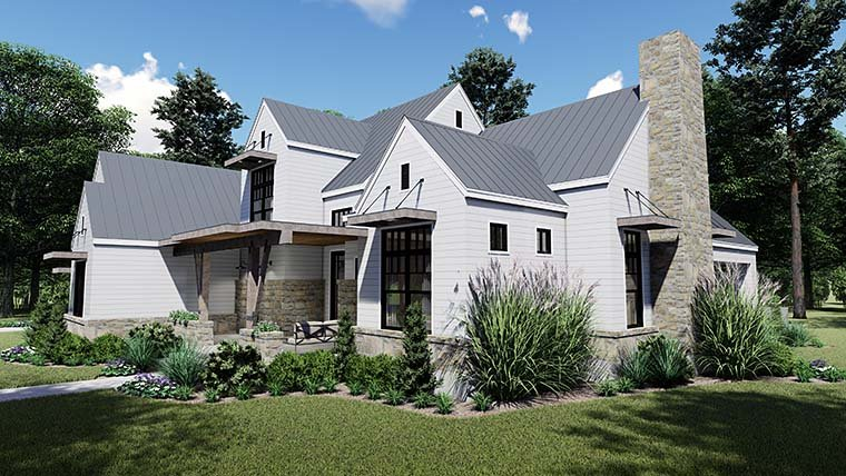 Cottage, Country, Farmhouse, Southern House Plan 75155 with 4 Beds, 4 Baths, 2 Car Garage Picture 5