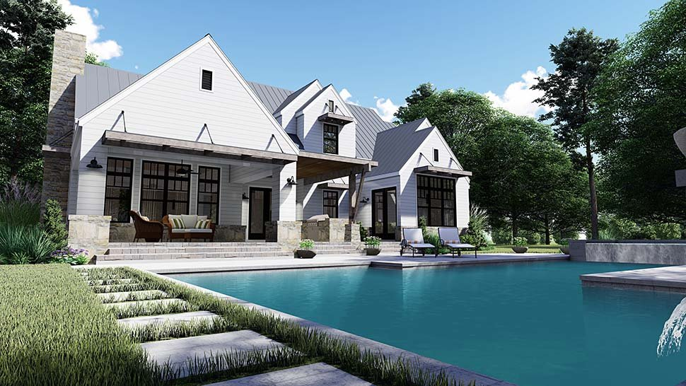 Cottage, Country, Farmhouse, Southern House Plan 75155 with 4 Beds, 4 Baths, 2 Car Garage Picture 7