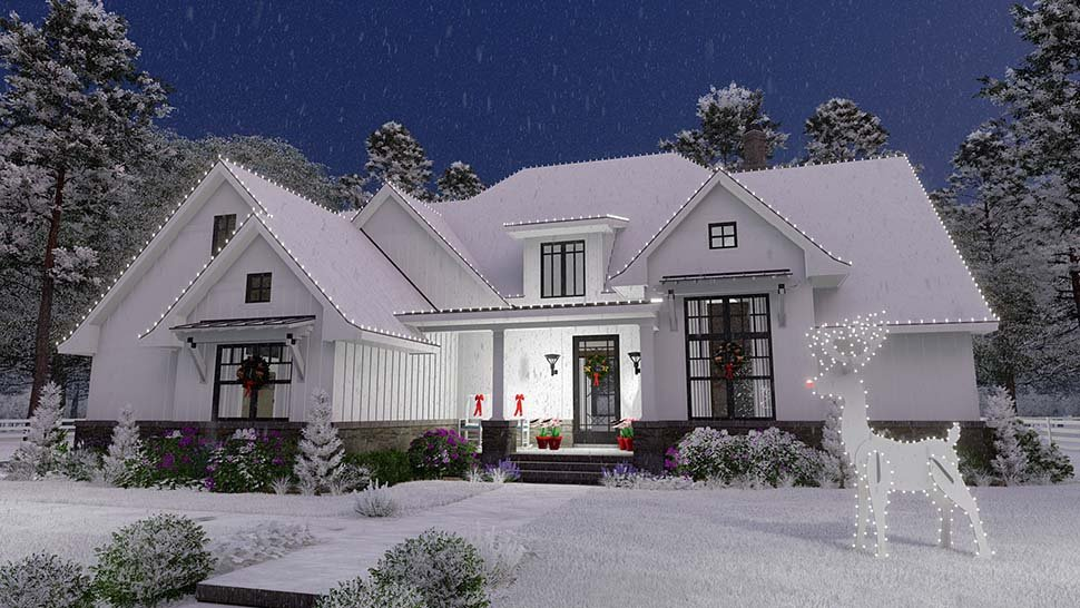 Country, Farmhouse, Southern House Plan 75156 with 4 Beds, 4 Baths, 2 Car Garage Picture 1