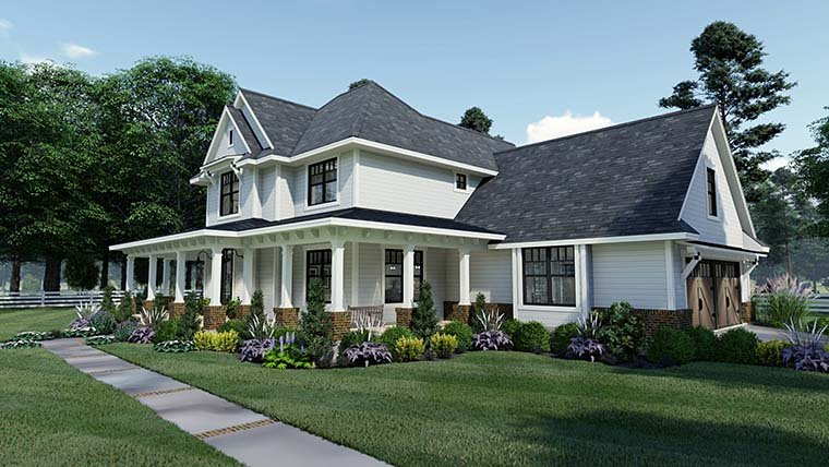 Country, Farmhouse, Southern House Plan 75158 with 3 Beds, 3 Baths, 2 Car Garage Picture 5