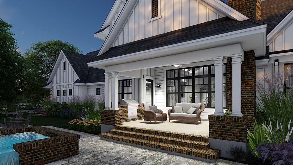 Country, Farmhouse House Plan 75164 with 4 Beds, 4 Baths, 3 Car Garage Picture 12