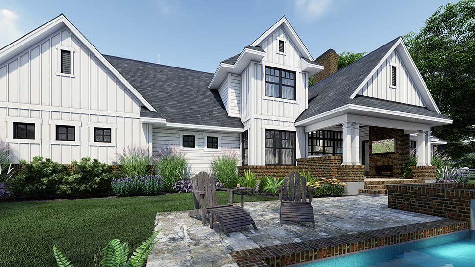 Country, Farmhouse House Plan 75164 with 4 Beds, 4 Baths, 3 Car Garage Picture 4