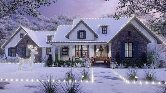 Cottage, Farmhouse, Southern, Traditional House Plan 75166 with 3 Beds, 3 Baths, 2 Car Garage Elevation