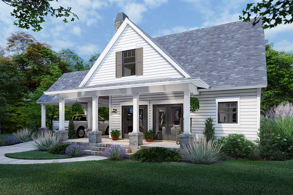Cottage, Farmhouse House Plan 75170 with 3 Beds, 2 Baths Picture 3