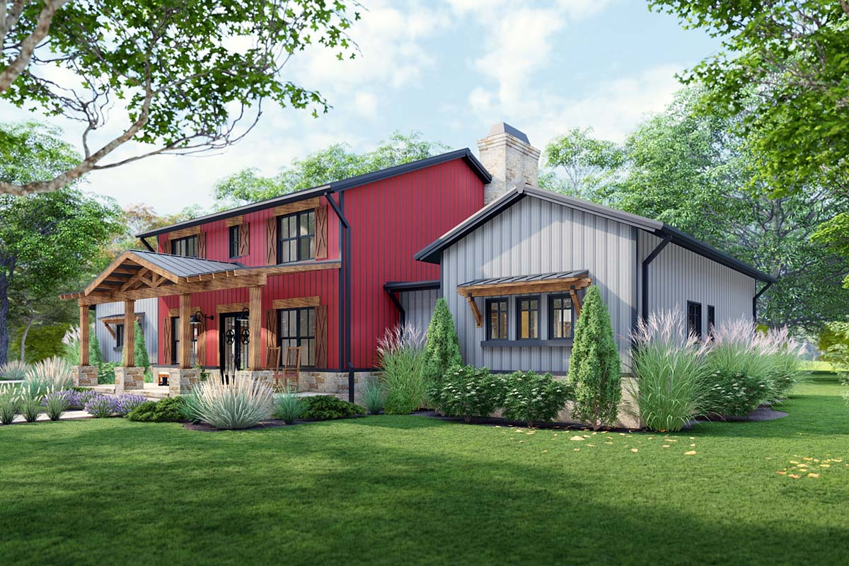 Country, Farmhouse House Plan 75172 with 3 Beds, 3 Baths, 3 Car Garage Picture 1