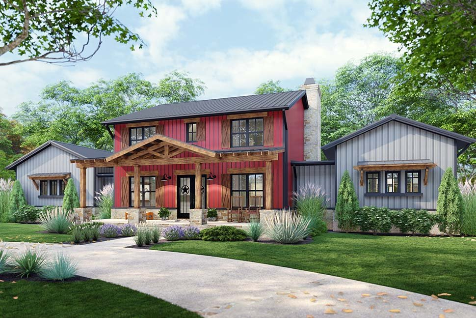 Country, Farmhouse House Plan 75172 with 3 Beds, 3 Baths, 3 Car Garage Picture 3