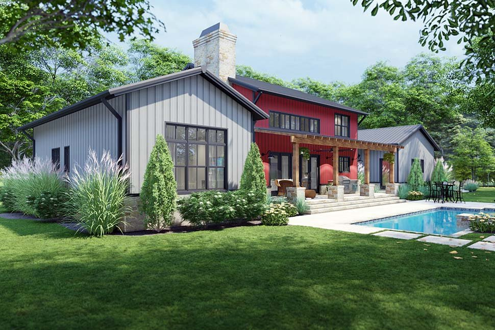 Country, Farmhouse House Plan 75172 with 3 Beds, 3 Baths, 3 Car Garage Picture 4