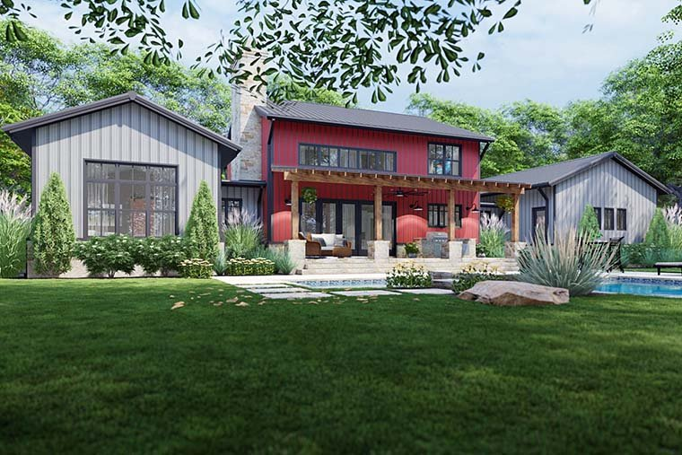 Country, Farmhouse House Plan 75172 with 3 Beds, 3 Baths, 3 Car Garage Picture 5