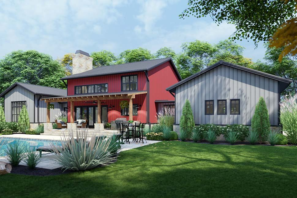 Country, Farmhouse House Plan 75172 with 3 Beds, 3 Baths, 3 Car Garage Picture 8