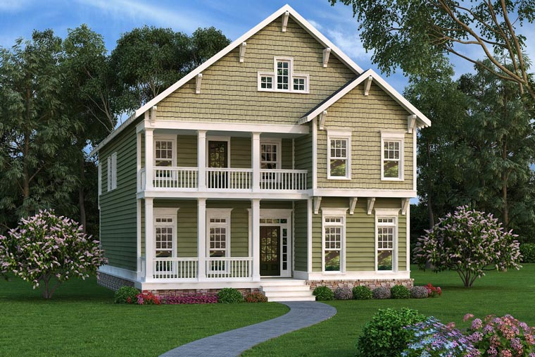 Coastal, Craftsman, Southern House Plan 75316 with 3 Beds, 3 Baths Elevation
