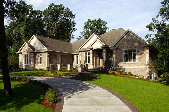 Traditional House Plan 75413 with 2 Beds, 3 Baths, 4 Car Garage Elevation