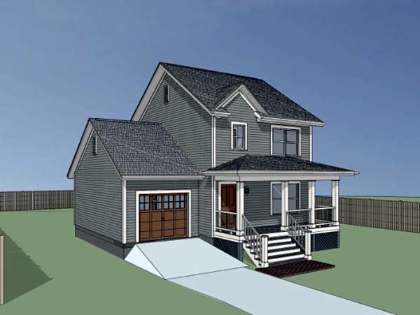 Colonial, Country, Southern House Plan 75520 with 3 Beds, 3 Baths, 1 Car Garage Picture 2