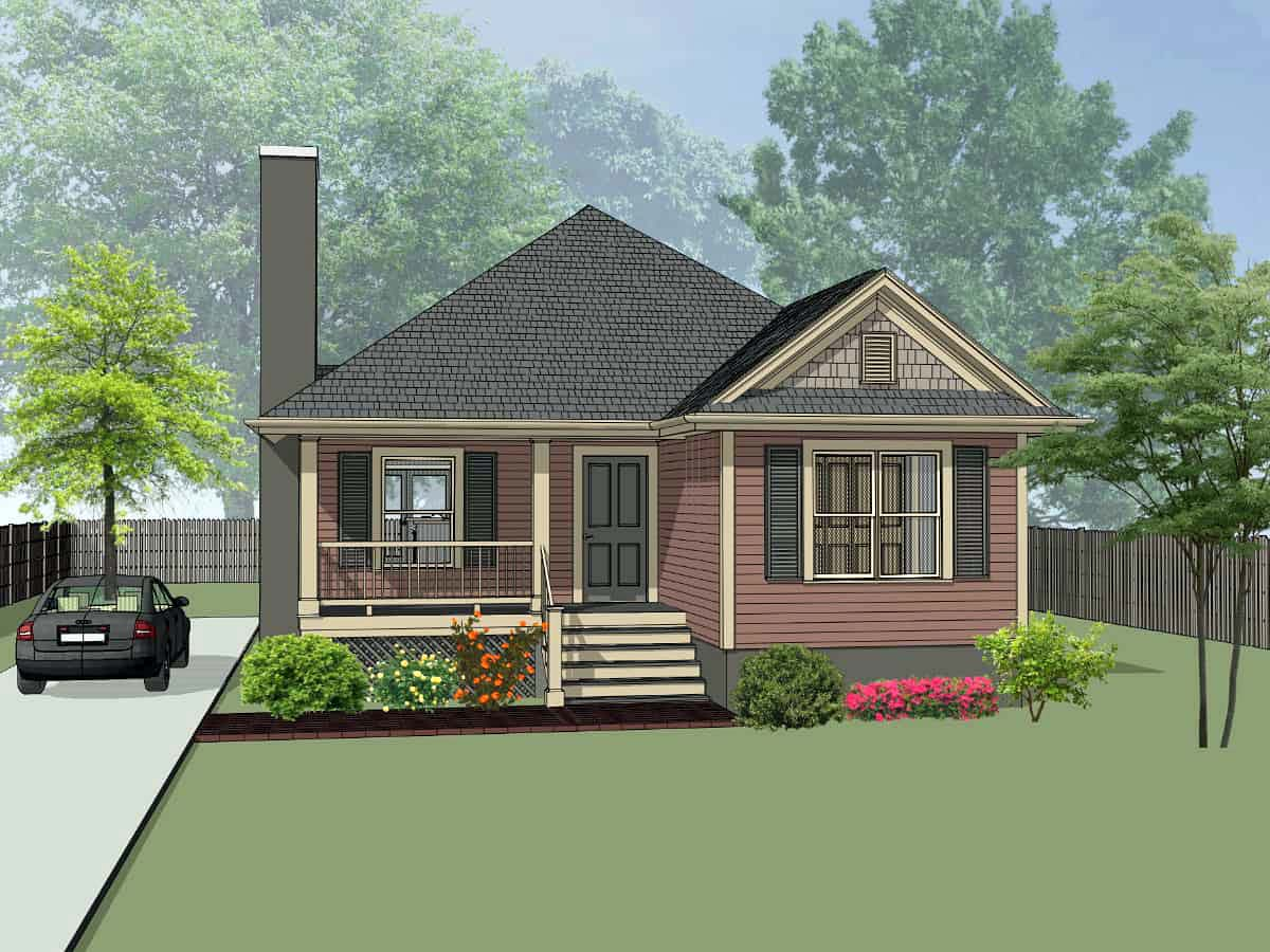 Bungalow, Cottage House Plan 75537 with 3 Beds, 2 Baths Elevation
