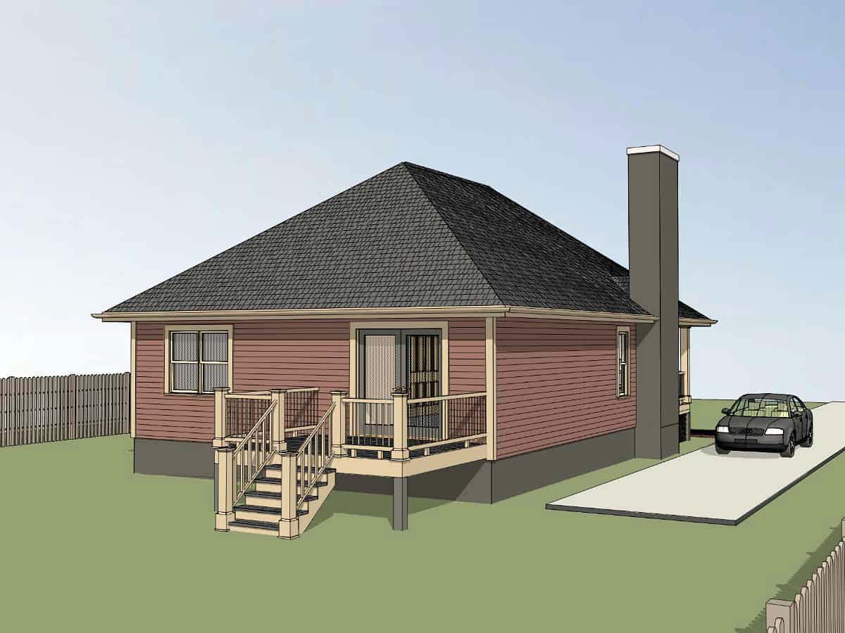 Bungalow, Cottage House Plan 75537 with 3 Beds, 2 Baths Picture 2
