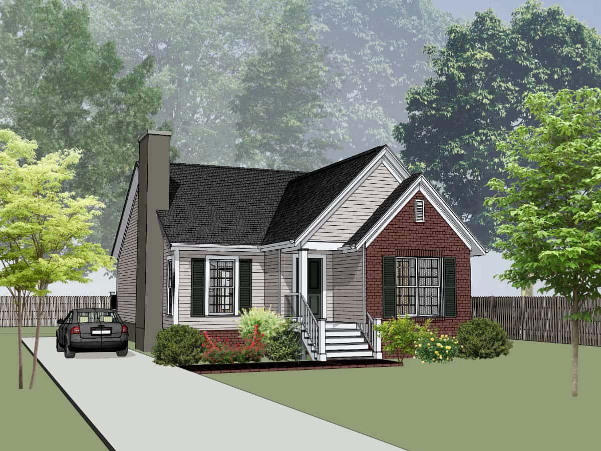Bungalow, Cottage House Plan 75538 with 3 Beds, 2 Baths Elevation