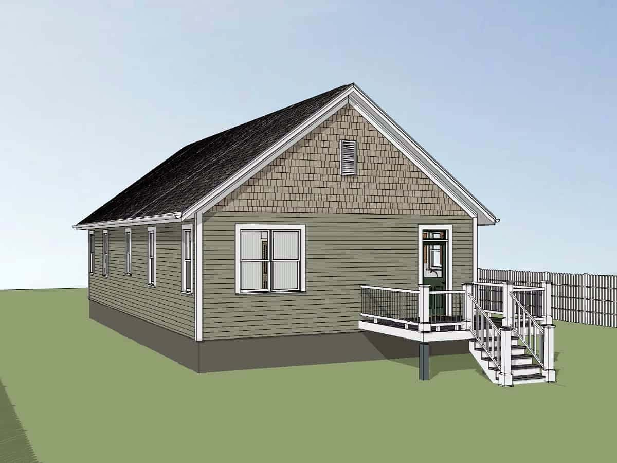 Bungalow, Cottage House Plan 75542 with 2 Beds, 2 Baths Picture 1