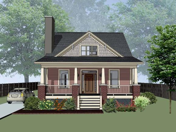 Bungalow, Cottage, Craftsman House Plan 75557 with 4 Beds, 2 Baths Elevation