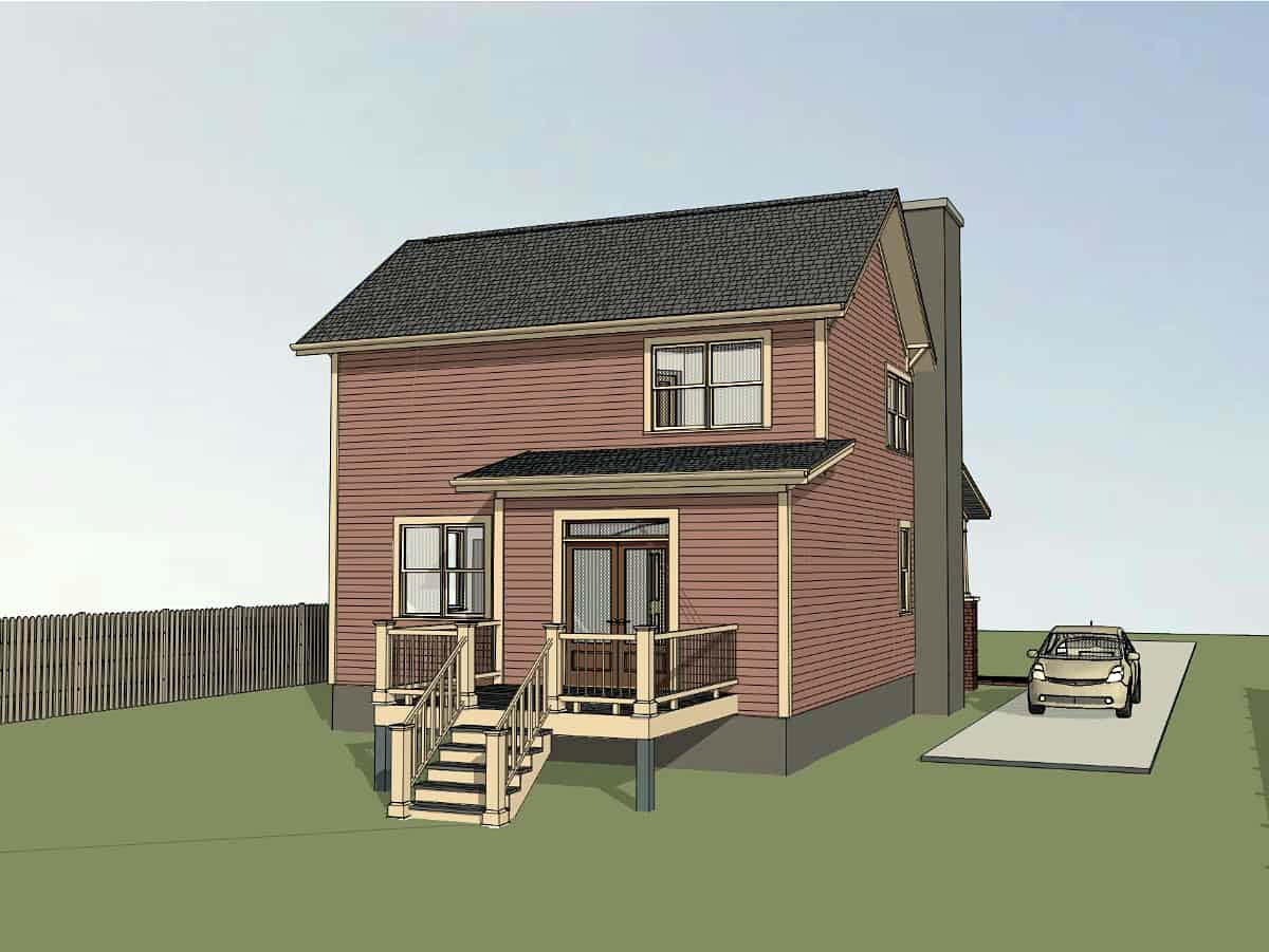 Bungalow, Cottage, Craftsman House Plan 75557 with 4 Beds, 2 Baths Picture 2