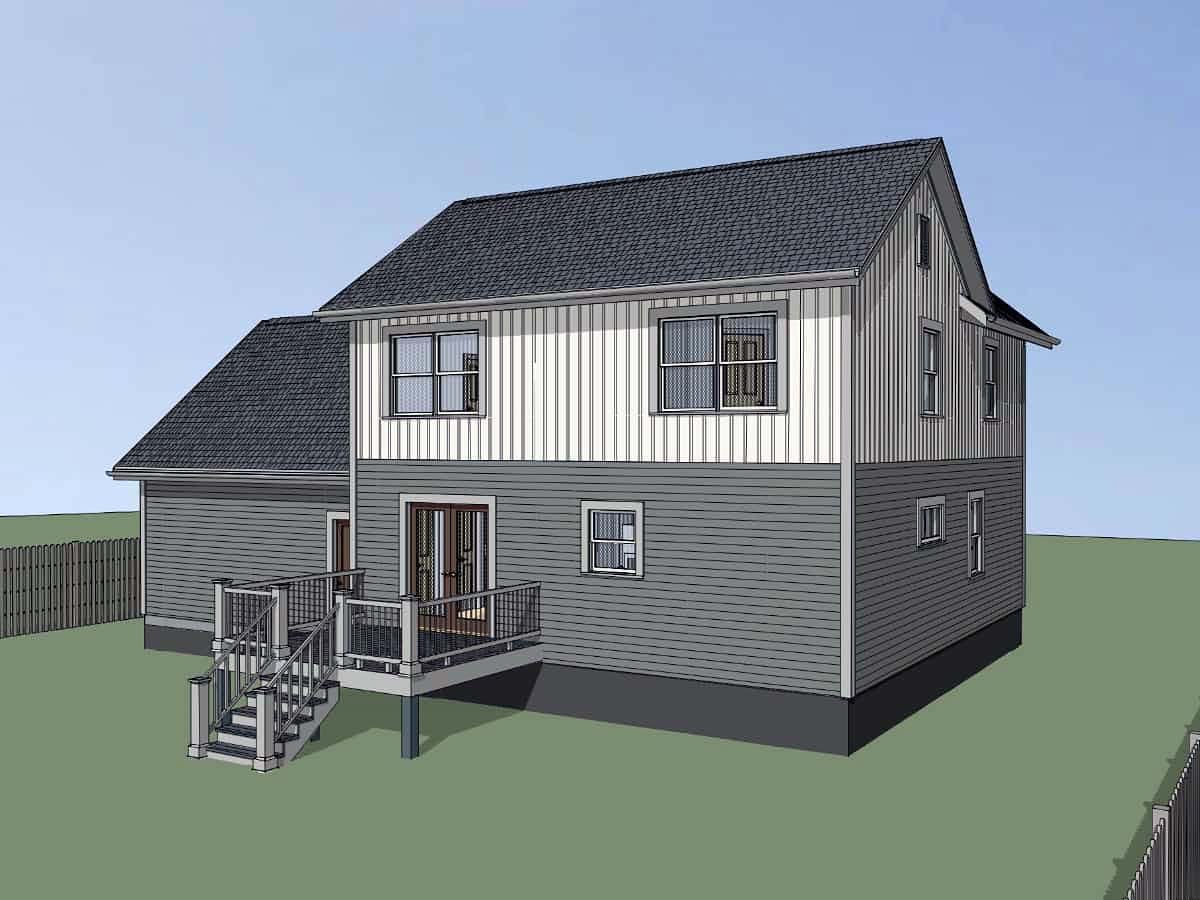 Bungalow, Colonial, Traditional House Plan 75559 with 4 Beds, 2 Baths, 2 Car Garage Picture 2