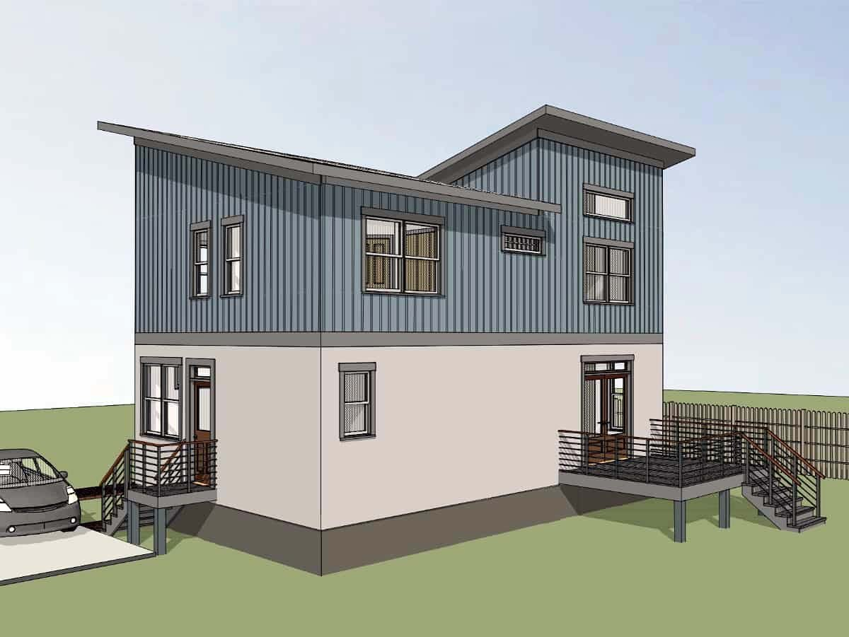 Bungalow, Contemporary, Modern House Plan 75567 with 3 Beds, 3 Baths Picture 1