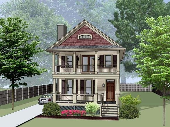 Colonial, Country, Southern House Plan 75570 with 3 Beds, 3 Baths Elevation