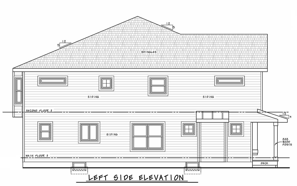 Narrow Lot, Southern, Traditional Multi-Family Plan 75713 with 4 Beds, 6 Baths Picture 2