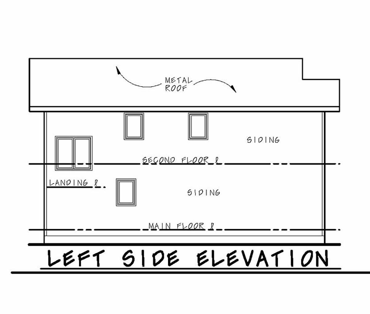 Modern Multi-Family Plan 75731 with 3 Beds, 3 Baths, 1 Car Garage Picture 2