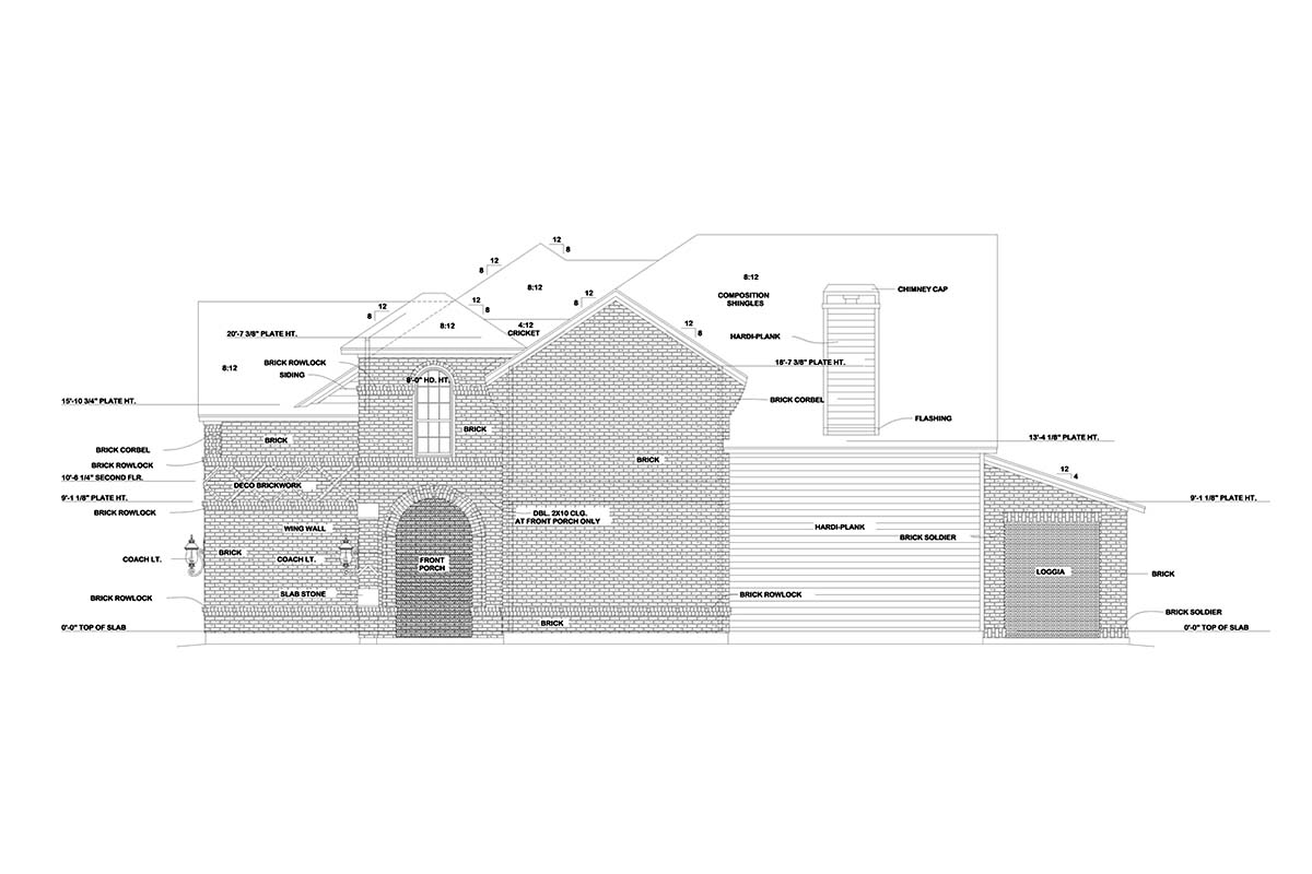European House Plan 75744 with 4 Beds, 4 Baths, 2 Car Garage Picture 1
