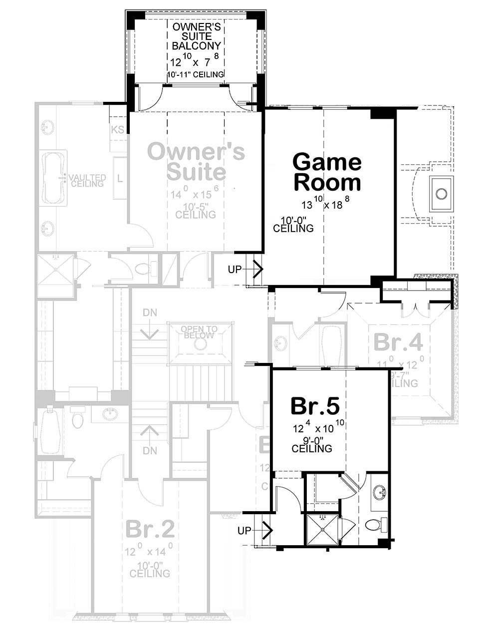 European House Plan 75744 with 4 Beds, 4 Baths, 2 Car Garage Picture 4
