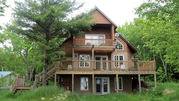 Cabin, Cottage House Plan 76031 with 3 Beds, 2 Baths Elevation