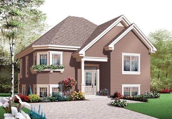 House Plan 76203 with 2 Beds, 1 Baths Elevation